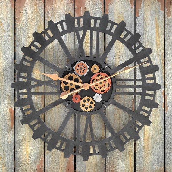 Synchronized Sprockets And Gears Wall Clock