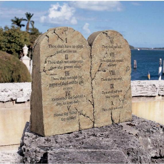 Ten Commandments Sculptural Tablet