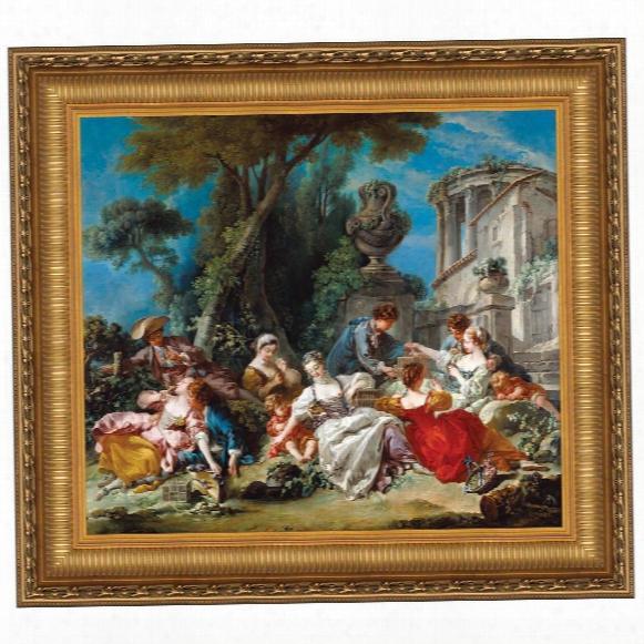 The Bird Catchers, 1748: Canvas Replica Painting: Grande