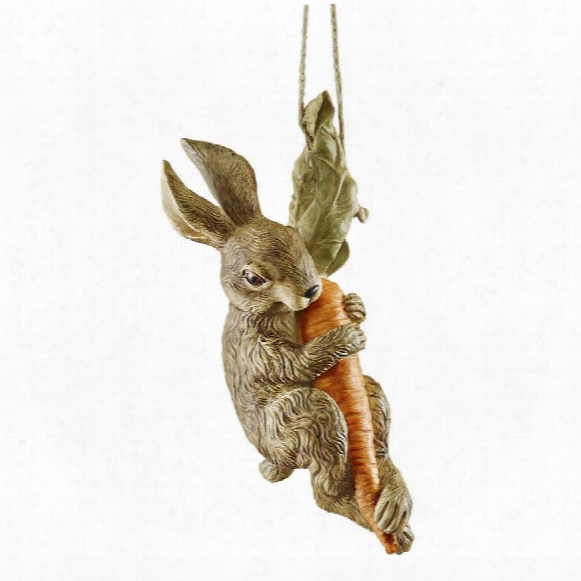 The Carrot Caper Swinging Bunny Rabbit Statue