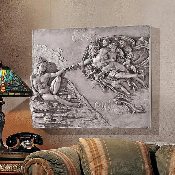 The Creation Of Adam Sculptural Wall Frieze