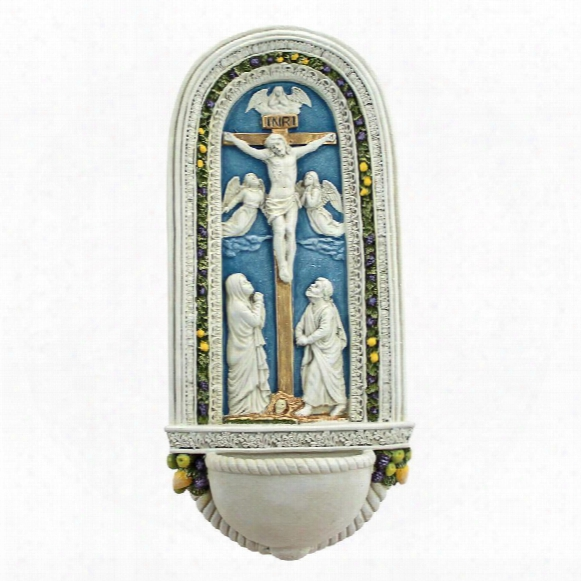 The Crucifixion Of Jesus By Della Robbia Wall Font Carve