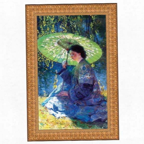 The Green Parasol, 1909: Canvas Replica Painting: Grande