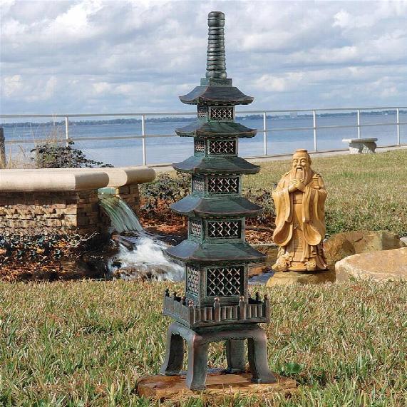 The Nara Temple: Asian Garden Pagoda Sculpture