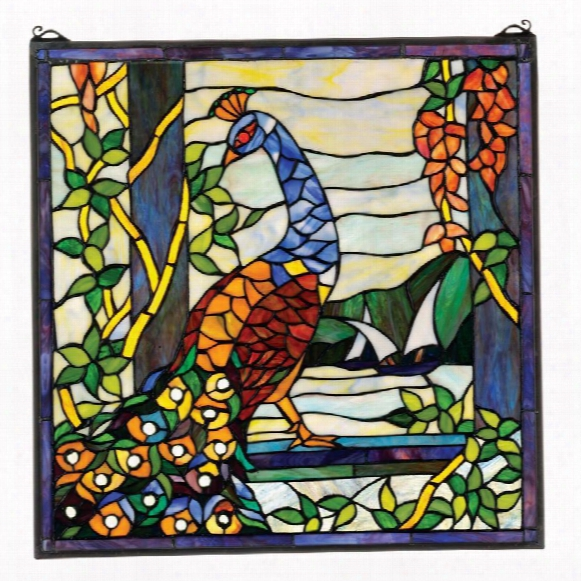 The Peacock's Garden Stained Glass Window