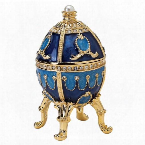 The Pushkin Collection: Natalia Faberge-style Enameled Egg