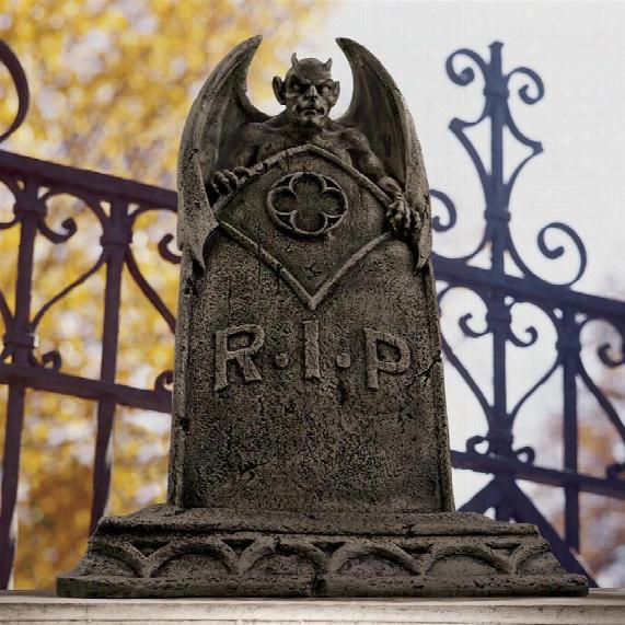 The Vampire Demon Tombstone Statue