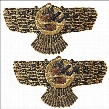 Ashur the Assyrian God of Earth, Air and Sun Wall Sculpture: Set of 2