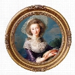The Vicomtesse de Vaudreuil, 1785: Canvas Replica Painting: Medium