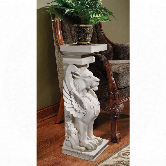 Trapezophoron Sculptural Winged Lion Pedestal