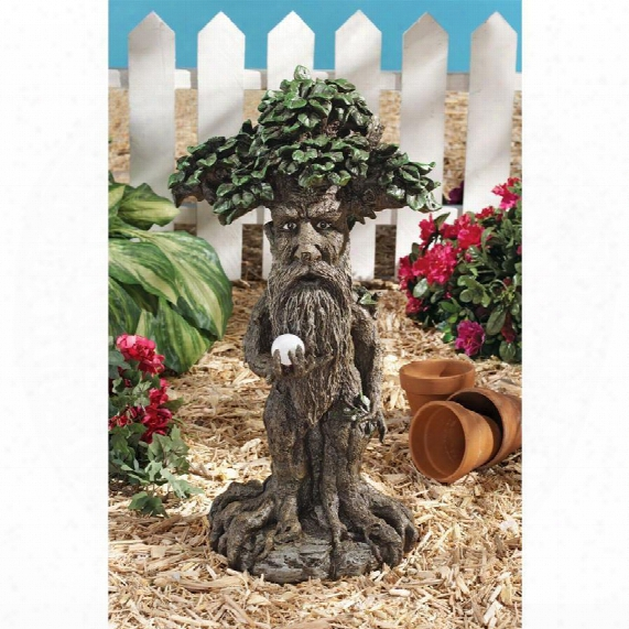 Treebeard Ent With Mystical Orb Statue
