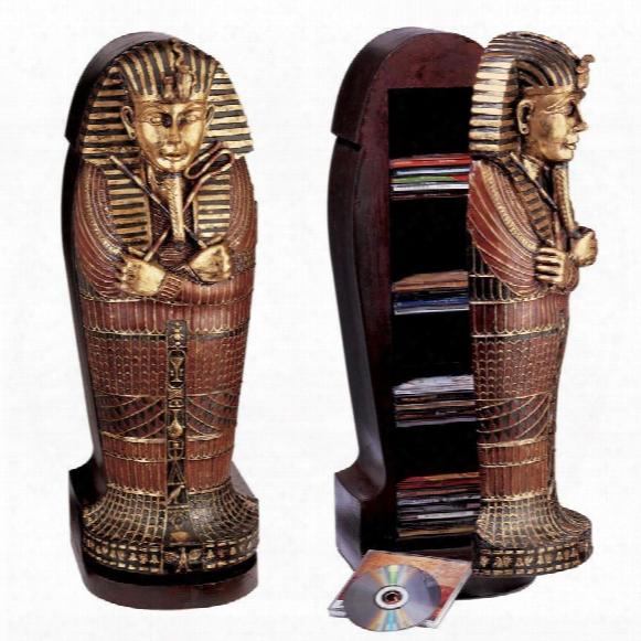 Tutankhamen Sarcophagus Cd Cabinet