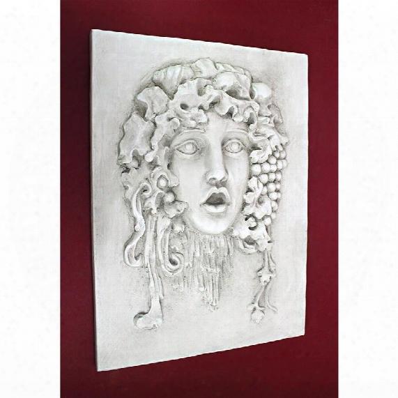 Vappa, Goddess Of The Grapes Italian-style Wall Sculpture: Medium