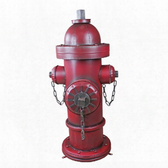 Vintage Metal Fire Hydrant Statue: Grande