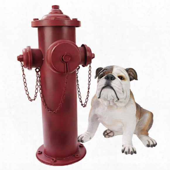 Vintage Metal Fire Hydrant Statue: Large
