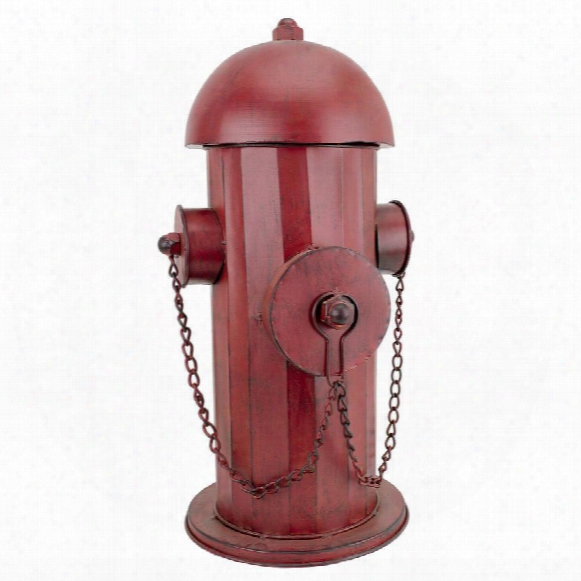 Vintage Metal Fire Hydrant Statue: Medium
