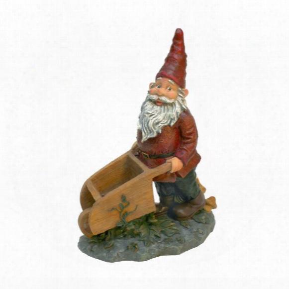 Wheeler With The Wheelbarrow Garden Gnome Statue