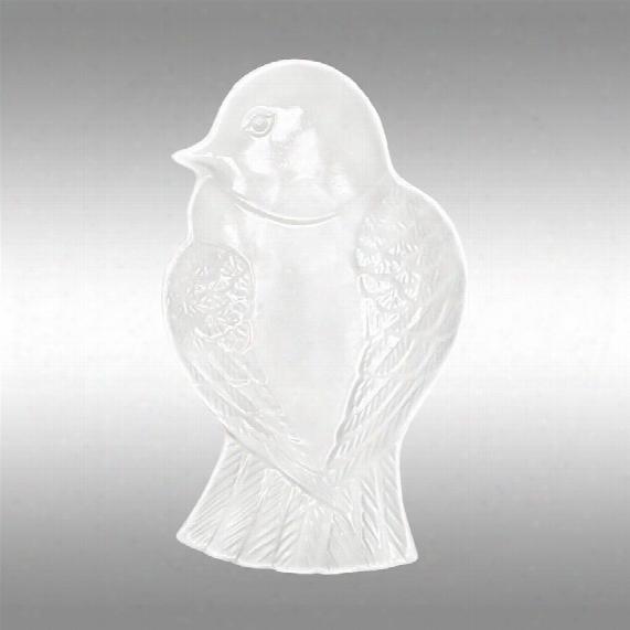 """White Bird 12"""" Ceramic Dish"""