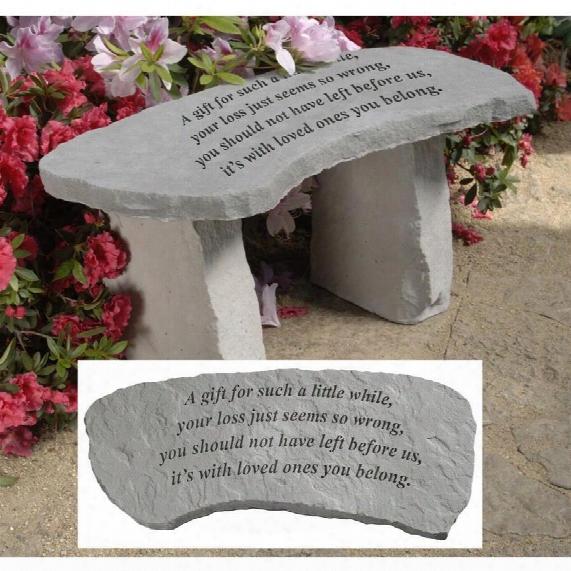 A Gift Cast Stone Memorial Garden Bench
