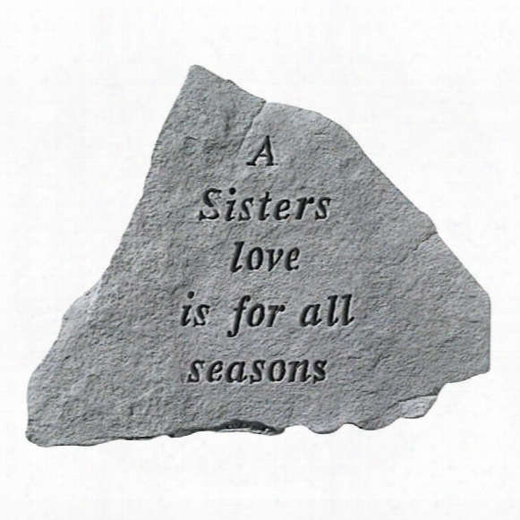 A Sisters Love: Cast Stone Memorial Garden Marker