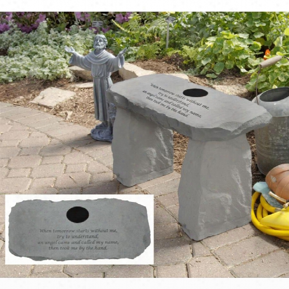 An Angel Came Personalized Cast Stone Memorial Garden Bench