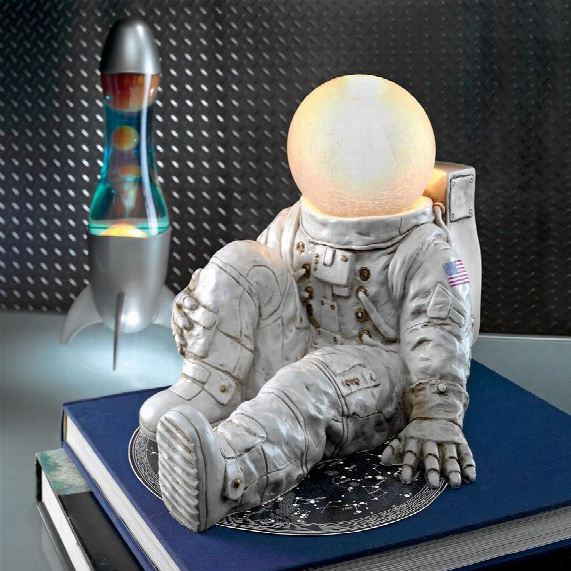 """Astronaut At Ease"""" Lighted Sculpture"""