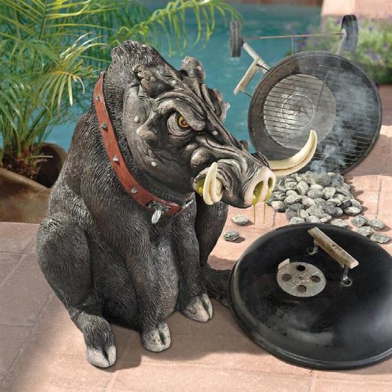 Bad Intentions Giant Warthog Garden Statue