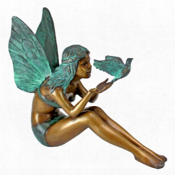 Bird Fairy Cast Bronze Garden Statue