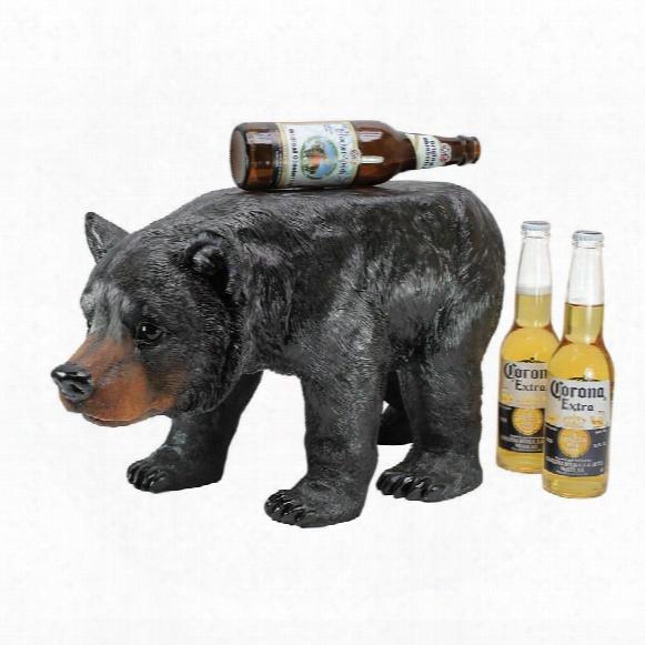 Black Bear Sculptural Stool