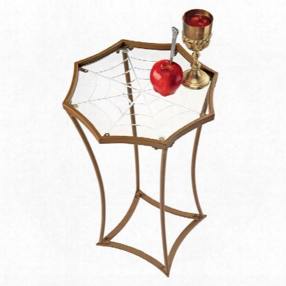 """Blaco Widow's Web"""" Metal Side Table"""