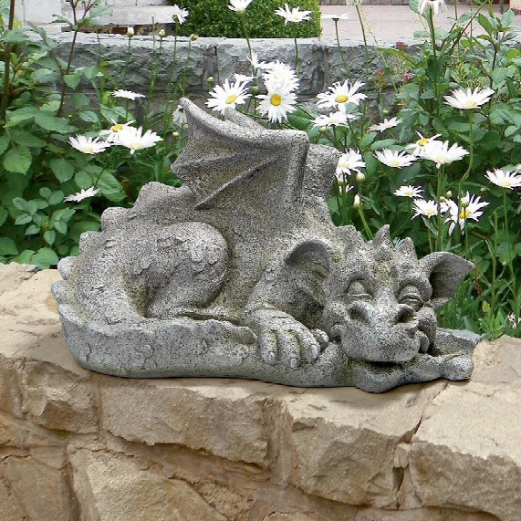 "Blushign Babel, The Bashful Dragon"" Statue: Medium"