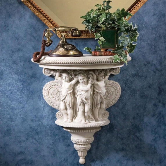 Cherubs Of The Wine Harvest Sculptural Wall Console