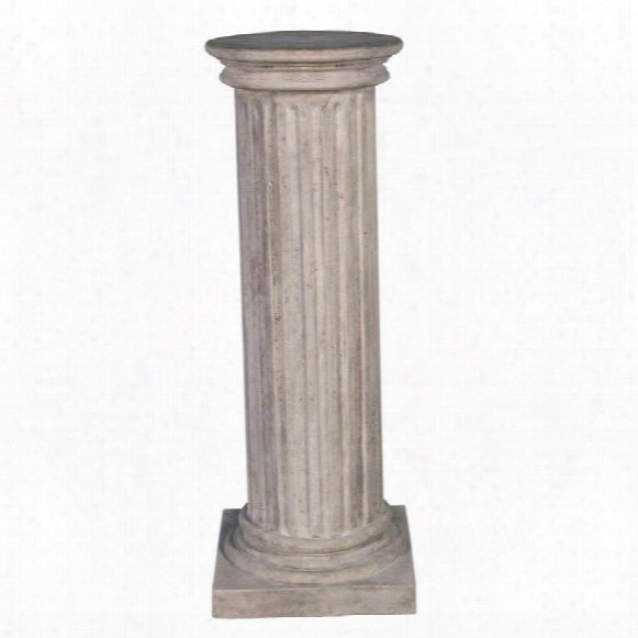 Classical Greek Fluted Plinth: Large