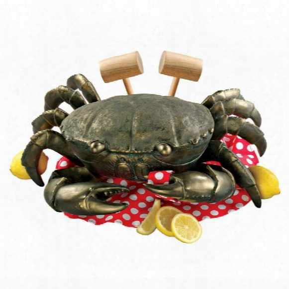 Colossal Crustacean Garden Crab Statue