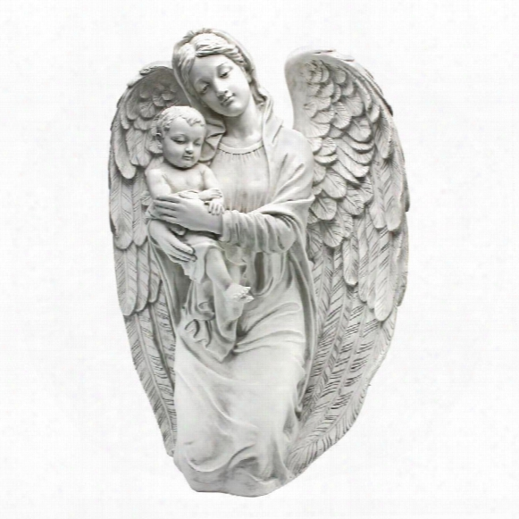 Devoted Protector Guardian Angel Statue