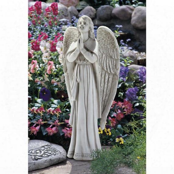 Divine Guidance: Praying Angel Garden Statue: Large