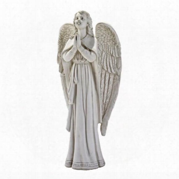 Divine Guidance: Praying Angel Garden Statue: Medium
