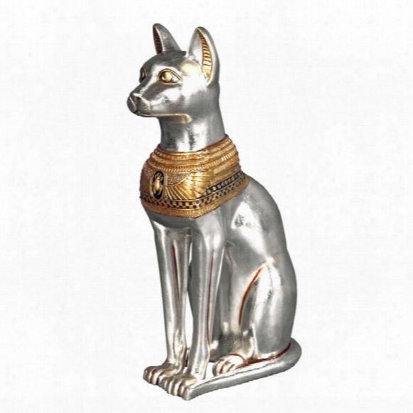 Egyptian Cat Goddess Bastet Statue: Large