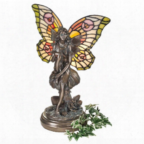 Fairy Of The Glen Tiffany-style Stained Glass Illuminated Sculpture
