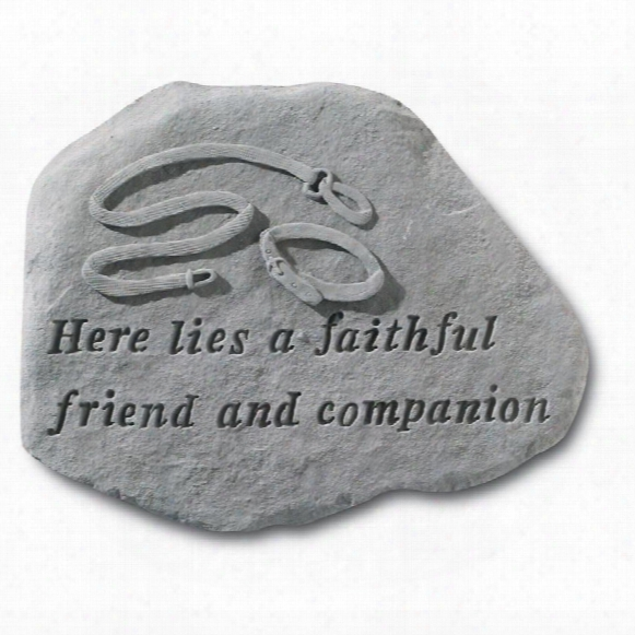 Faithful Companion Cast Stone Dog Memorial Statue