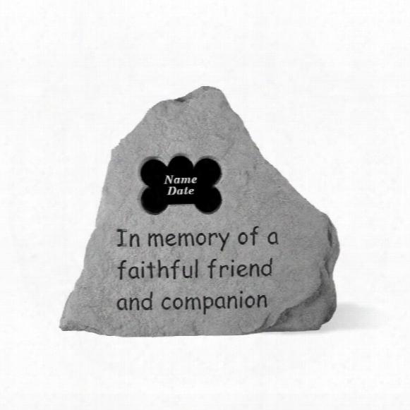 Faithful Friend Personalized Cast Stone Dog Memorial Statue