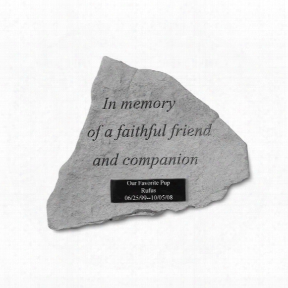 Faithful Friend Personalized Cast Stone Pet Memorial Statue