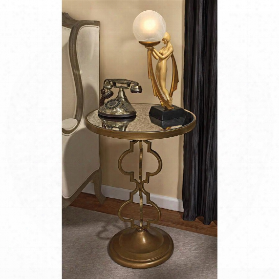 Film Noir Art Deco Mirroeed Accent Table