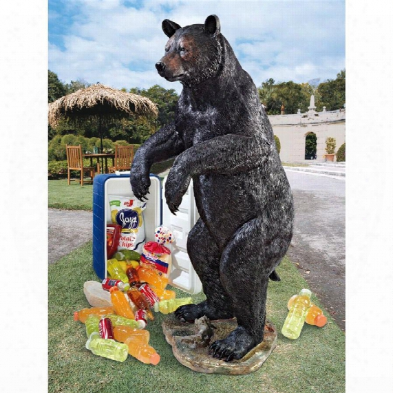 Fishing For Trouble Bear Statue: Grande