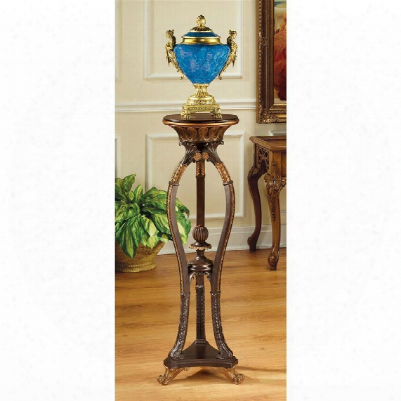 Floral Bouquet Pedestal Table