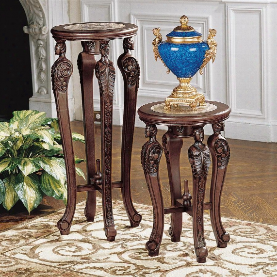Four Caryatids Pedestals: Set Of Two
