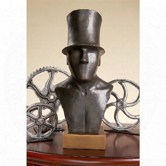 Gentleman Ftom Middlesex With His Stovepipe Hat Sculptural Bust