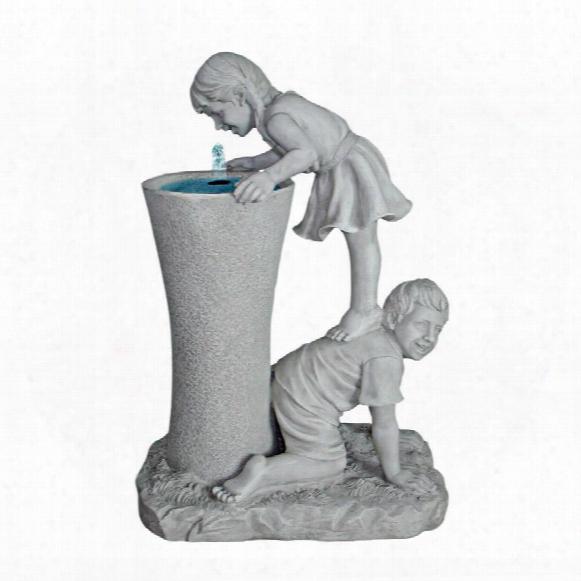 Get A Leg Up: Girl And Boy Sculptural Fountain