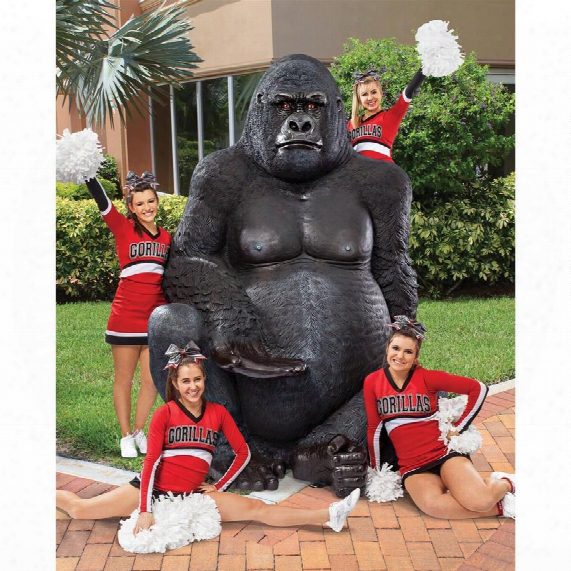 Giant Male Silverback Gorilla Statue