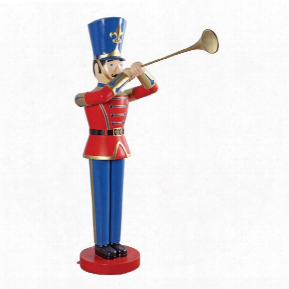 Giant Trumpeting Soldier Statue
